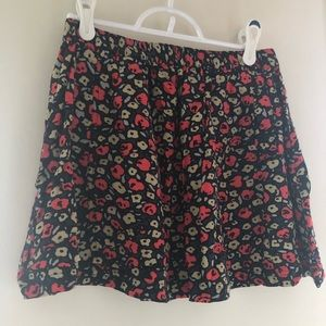 UO floral skirt